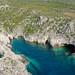 Porto Limnionas caves Zakynthos, Greece aerial
