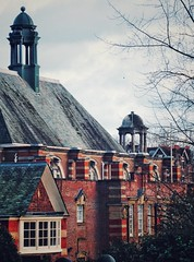 UCS – All is quiet, on New Year's Day. (marc.barrot) Tags: creativecolours roofs architecture building school uk nw3 london hampstead frognal universitycollegeschool