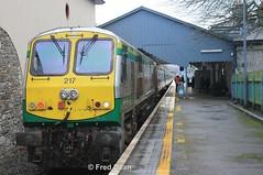 Irish Rail 217 in Killarney. (Fred Dean Jnr) Tags: irishrail iarnrodeireann january2015 caf mkiv markiv 217 gm217 electromotivedivision generalmotors locomotive kerry killarney killarneystationkerry
