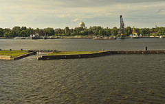 A0799KBFb (preacher43) Tags: kronstadt russia navy cathedral trees water gulf finland church building architecture history