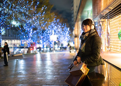 Young woman waiting for friends for Christmas shopping (Apricot Cafe) Tags: ap2a8058 asia asianandindianethnicities christmas christmastree japan japaneseethnicity minatoward roppongi sigma35mmf14dghsmart tokyojapan capitalcities carefree casualclothing christmasdecoration christmaslights citylife citystreet coatgarment colorimage consumerism copyspace enjoyment happiness headphones illuminated leaning leisureactivity lifestyles listening music night onlywomen outdoors people photography realpeople scarf shopping shoppingbag sitting smiling threequarterlength toothysmile waiting winter women youngadult