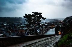 Le Sambre - Namur Citadel (ricckoo87) Tags: namur citadel river sambre belgium cobblestone landscape castle water canal city urban nikon old town blue