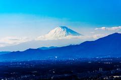 Mt. Fuji view from the Observation floor of Yokohama Landmark Tower : 横浜ランドマークタワー展望フロアーより富士山の展望 (Dakiny) Tags: 2019 winter january japan kanagawa yokohama nishiku nishiward city street nikon d750
