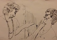Maureen meeting Gila - jkpp (pensezel/✎) Tags: jkpp ink fineliner drawing