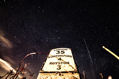 Show me the way to go home (Paul Wrights Reserved) Tags: astrophotography astro night london royston buntingford road trail lighttrail lighttrails old marker nightphotography nighttime nikon nightscape stars