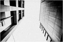 Cold City (Thomas Listl) Tags: thomaslistl blackandwhite biancoenegro noiretblanc monochrome grey urban city architecture grain dirty facade perspective lines building wall geometry sky fade