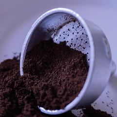"HMM: The ground coffee tank of a Moka (silvia04.r) Tags: ""macro mondays"" ""brew"" coffee kaffee caffè moka filter filtro"