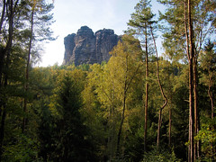 Bohemia (10/36) (Freddy Berlin) Tags: germany sachsen saxony bohemia sächsischeschweiz elbe landscape river nature hiking wanderer elbsandsteingebirge geology autumn forest woods reserve canyon exploring travel backpacking walking slow ecosystem protected olympus pen m43 mft microfourthirds lumix 20mm 17 stone limestone rocks climbing cliff dome nationalpark diary life visual wild wilderness