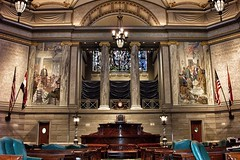 State Capitol of Missouri ~ Senate Chambers ~ Attraction (Onasill ~ Bill Badzo - 60 Million Views - Thank Yo) Tags: attractionsite senate chambers speaker chair stain glass murals historic nrhp landmark register tours visitors onasill jefferson city missouri state capitol historical government election debate mi architecture indoor building hall mo