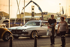 Pontiac (solomiya.p) Tags: car event detail deatails perfection mood vintage street art natural light sunset cars festival interior canon glow gloss bokehlicious bokeh classic chic road people