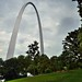 The Gateway Arch as a Backdrop for a Hillside of Trees (Gateway Arch National Park)