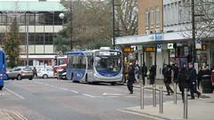 Metrobus Bus 6019, Central Crawley. (ManOfYorkshire) Tags: crawley centre bewbush route10 wright wrightbus bus volvo b8rle metrobus bj15twu fastway guided