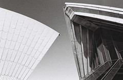 Sydney Opera House (Christopher Clarkson) Tags: sydney operahouse curves architecture geometry blackandwhite bnw film analog abstractarchitecture contax167mt