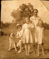 Family Group Photo with Dog (Familypapers) Tags: portrait blackandwhitephoto children babypictures