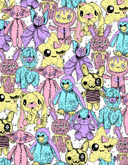 plushie pattern (leannaperry) Tags: leanna perry pastel goth kawaii plushies stuffed animals baby toy cute adorable pattern design art artist illustration designer graphic brooklyn new york ny surface childrens draw drawing