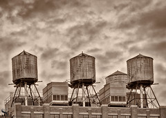 1 sepia water tanks 2 (Singing With Light) Tags: 19th 2016 alpha6000 mirrorless morningstroll ny nyc singingwithlight sonya6000 thehighlinethehighline manhattan may photography pond singingwithlightphotography sony urban