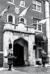 Windsor Arms Entrance Thursday (Bill Smith1) Tags: believeinfilm billsmithsphotography canonnewf1 fdn50f14lens hc110b heyfsc kodaktrix4001600 toronto