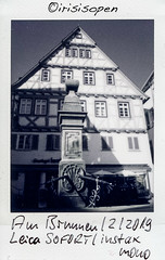 Am Brunnen # 004 # Leica SOFORT Fuji instax MONO -2019 (íṛíṡíṡôṗĕñ ◎◉◎) Tags: leica sofort film instant analog schwarzweiss bw instax monochrome irisisopen