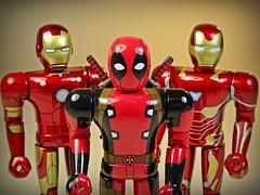 Bandai – Chogokin Heroes Series – Iron Man Mk 3, Deadpool & Iron Man Mk 50 – Close Up! (My Toy Museum) Tags: bandai marvel heores diecast chogokin action figure iron man deadpool