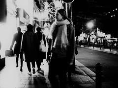 Night scene! (takana1964) Tags: streetphotography snap streetsnap street snapshot streetshot citysnap citystreet city cityphotography monochrome blackandwhite bw bnw kyotocity japan olympus