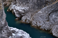 The Touch Of Time (PhotonenBlende) Tags: stream mountains creek rocks flowingwater river rock cliff gorge water blue füssen lech alpen alps snow rough landscape waterscape nature allgäu schwangau outdoor