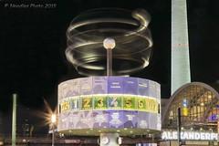 Weltzeituhr - World Clock (Berlin, Alexanderplatz) (Noodles Photo) Tags: weltzeituhr worldclock berlin alexanderplatz alexanderplatzberlin uraniaweltzeituhr ddr berlinmitte canoneos7dmarkii ef24105mmf4lisusm longexposure langzeitbelichtung nachtaufnahme nightshot