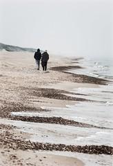 foggy day (*BegoñaCL) Tags: beach winter couple sea fog sand walk begoñacl