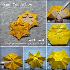 Tutorial New Year's Eve - part 3 (talina_78) Tags: origami star hexagon tutorial