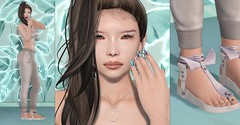Minty (Dan Gericault Lol and XD 4Evah) Tags: secondlife sl slfashion meowhi senseevent michan zodiacevent livia mesh nails slackgirl appliers akerukadeluxe akerukaak bentohead moda shoes modashoes asian kawaii cute leforme skin