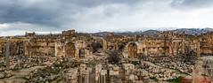 Baalbek (Paul Saad) Tags: baalbek lebanon roman ruins acient history nikon pano panorama panoramic hdr snow mountains