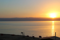Dead Sea Sunset (boom_goes_the_canon) Tags: jordan tourism desert middleeast deadsea beach shore sunset travel studyabroad sea bodyofwater mountains israel westbank