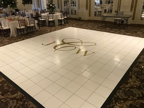 "White Dance Floor with Vinyl Monogram • <a style=""font-size:0.8em;"" href=""http://www.flickr.com/photos/81396050@N06/46549442995/"" target=""_blank"">View on Flickr</a>"