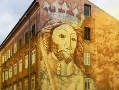 Street art (JLM62380) Tags: croatia croatie architecture sunset shadows light lumiére pierres stones pula streetart art rue street grafitti fresque