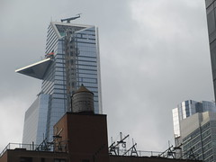 2018 Gray Afternoon Light Hudson Yards Tower NYC 8797 (Brechtbug) Tags: 2018 december gray afternoon light hudson yards tower with triangle balcony platform near 34th street midtown manhattan new york city nyc 12302018 west side construction center cityscape architecture urban landscape scape view cityview shadow silhouette close up skyline skyscraper railroad rail yard train amtrak tracks below grown buildings above