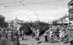 Moseley Square 1979 (railfan3) Tags: metropolitantramwaystrust mtt bayline baylineanniversary 19291979 moseleysquare glenelg tramterminus trams1979 hclasstrams interurban trams tramcars trolleys tramway publictransport tramevents adelaide adelaidetrams adelaidemetro vintagetrams classictrams oldtimers oldtrams retrotrams moseleysquare1979 southaustralia australia australian streetcars strassenbahnwagen strasenbahn streetscene streetphotography streetlife