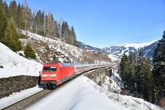 DB / EC114_101 110_Bad Hofgastein, Austria_150219_02 (DS 90008) Tags: db ec114 101110 mountains badhofgastein lok locomotive trees woodland