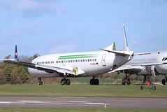 D-AGEU , Boeing 737-75B , ex Germania at Cotswold Kemble Airport / ASI . (Bob Symes) Tags: dageu germania asi kemble boeing b737 737