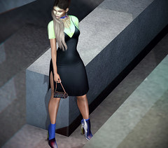 6.65 (Carley Benazzi) Tags: uc united colors vika unitedcolors urban urbancouture thecosmopolitanevent itgirls model mesh makeup mb~maibilavio genus hair ponytail dress events ebony ethnic bento fameshed 7 accessories avatarswithanoseforattitude avatar shadows skin secondlife moccino boots blue green neon handbag 2ndlife ohemo
