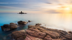 Sunset on Cap Dramont & Ile d'Or ( France / Cote d'azur ) (Yannick Lefevre) Tags: france europe var dramont capdramont iledor island seascape landscape sunset longexposure rockscape sea sky sun clouds stone rock water winter nikon nikkor nikkor1635mmf4 d810 raw nef lightroomcc photoshopcc tripod gitzo kasefilters wolverineseries nd64 09gndreverse 12gndsoft colors flickr coast