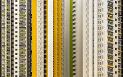 HK5 (josullivan.59) Tags: 2019 artistic asia hongkong kowloon abstract architecture city clear day detail geometric minimalism outdoor outside skyscraper texture travel urban yellow china apartment building