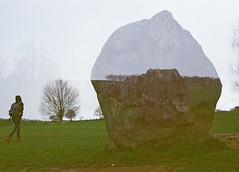 Seeing Stones, Avebury, April 2016 (Mano Green) Tags: stone standing grass sky double exposure people avebury wiltshire england uk history ancient circle spring 2016 april canon eos 300 40mm lens lomography colour negative film 35mm