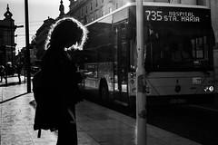 Waiting for the bus (reinomac) Tags: leica m10p summilux 50mm blackwhite backlight monochrome