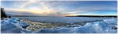 Huron Halo (D J England) Tags: lakehuron sunset lake pano brucepeninsula djenglandphotography halo panorama winter iphone7 sky douglasjengland clouds simpsonave davispoint ontario southernontario dje djengland tobermory haybay