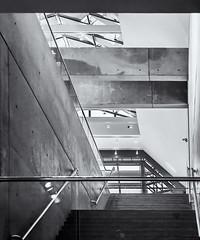 Architectural Detail 2 # 14  .... ; (c0rebfoto (rebfoto ...) Tags: architecture rebfoto monochrome architecturalphotography blackandwhite building stairway