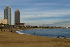 Winter's beach (irmur) Tags: barcelona beach spain