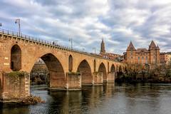 Winter in Montauban (PhilHydePhotos) Tags: architecture bridge buildings france montauban pont pontvieux southoffrance bâtiments