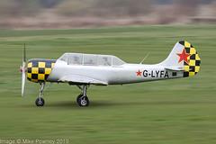 G-LYFA - 1982 Bacau built Yakovlev Yak-52, after a lengthy absence the Yak is back ! (egcc) Tags: 822608 aerostar barton cityairport egcb foxalphagroup glyfa ivchenko lyafa lightroom manchester yak52 yakovlev warbird