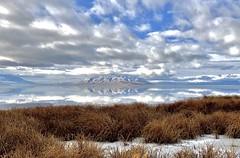 Serene lake (NinjaCat1212) Tags: light daylight peaceful weather clouds sky mountain blue nstural nature outside outdoors landscape usa utahcounty lake utah