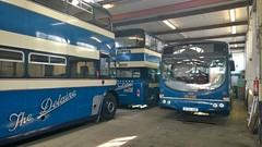 DELAINE WORKSHOP (NathanMerryweather) Tags: leyland titan pd2 atlantean delaine buses 45 72 147 ktl780 ktl 780 act540l act 540l sf54juo sf54 juo volvo b7rle northern counties willowbrook wright wrightbus eclipse