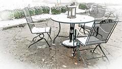 Snowed... (Pedro1742) Tags: chairs snow winter metal